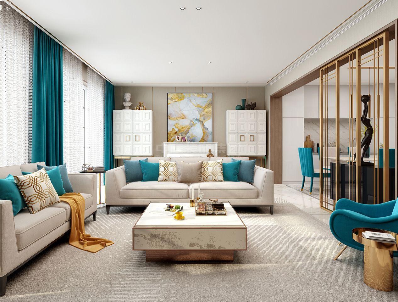 水悦龙湾125㎡轻奢风格案例